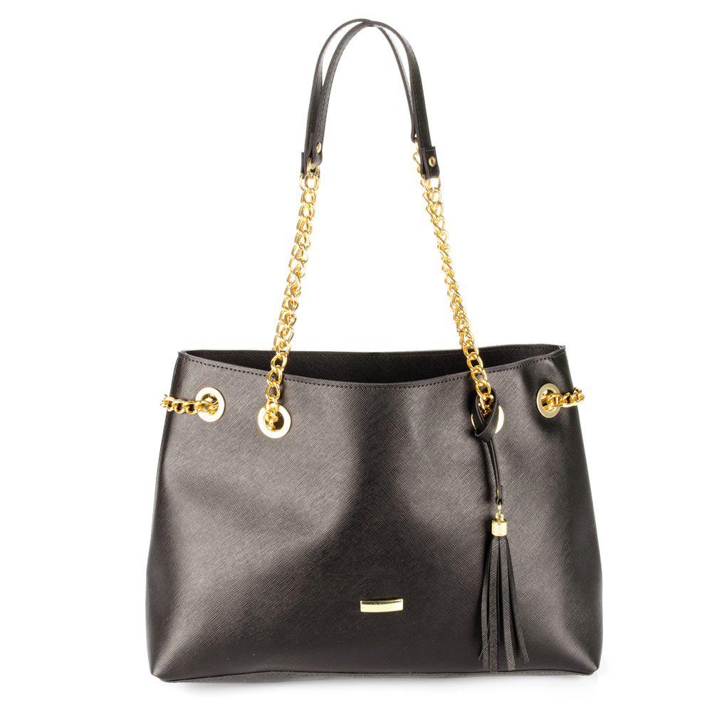 Bolsa Shopper Feminina alça com corrente diversas cores BAGSS 050