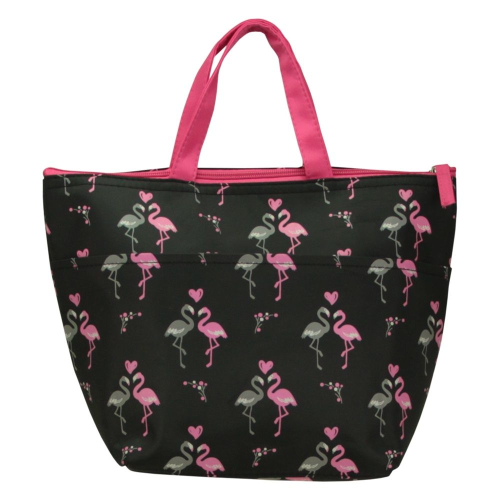 Bolsa Térmica Alimentos Lanches Marmita Fitness flamingo