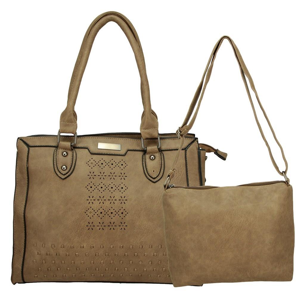 Bolsas Femininas kit com 2 Alça Transversal e De Mão L921#