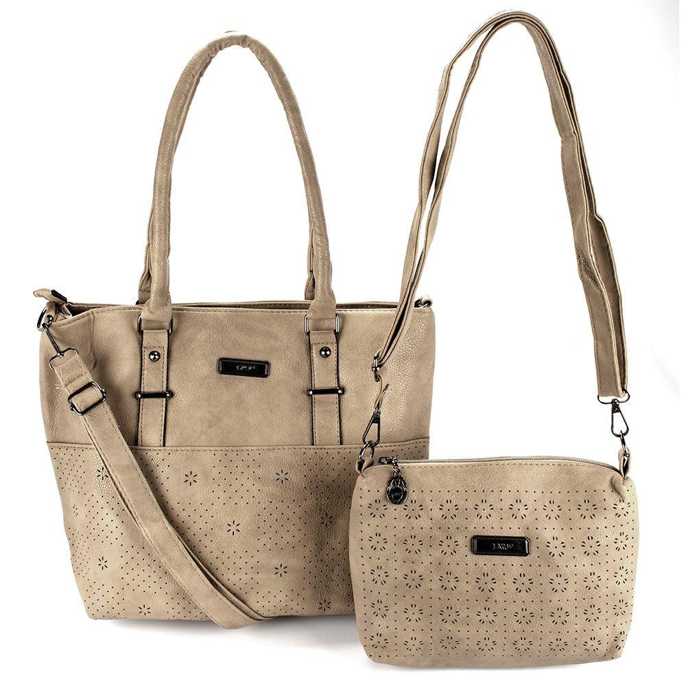 b8a84e8e18 Bolsas Femininas kit com 2 Bolsa com Alça Transversal L8629 - MMS Shop ...