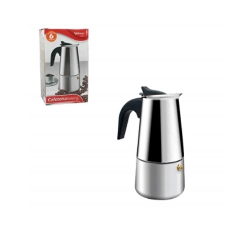 Cafeteira Italiana Em Inox Para 6 Cafes WX4073
