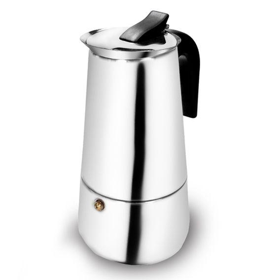 Cafeteira Italiana Luxo Em Aço Inox 200ml 4 Xícaras Ke Home 3404kh-1