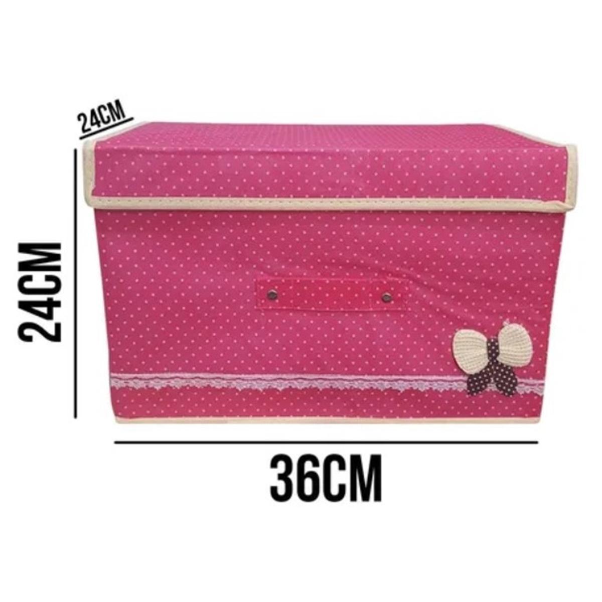 Caixa Organizadora Porta Treco 36X24X24 Guarda Roupa - Amigold AM-0015