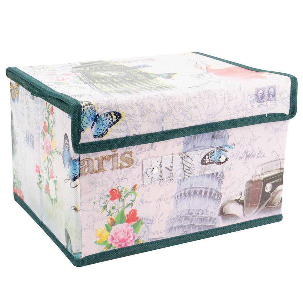 Caixa Organizadora Rígida pequena armários closet quarto MKD1008