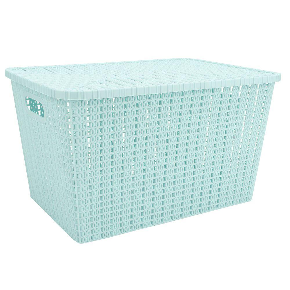 Caixa Organizadora Rígida plastico armários closet 34x24x20cm F-94458