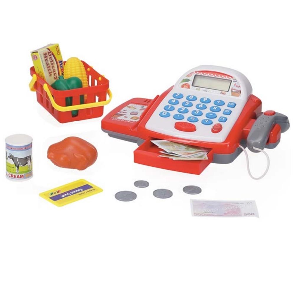Caixa Registradora Infantil Com Luz E Som Caixa Inga IN13401