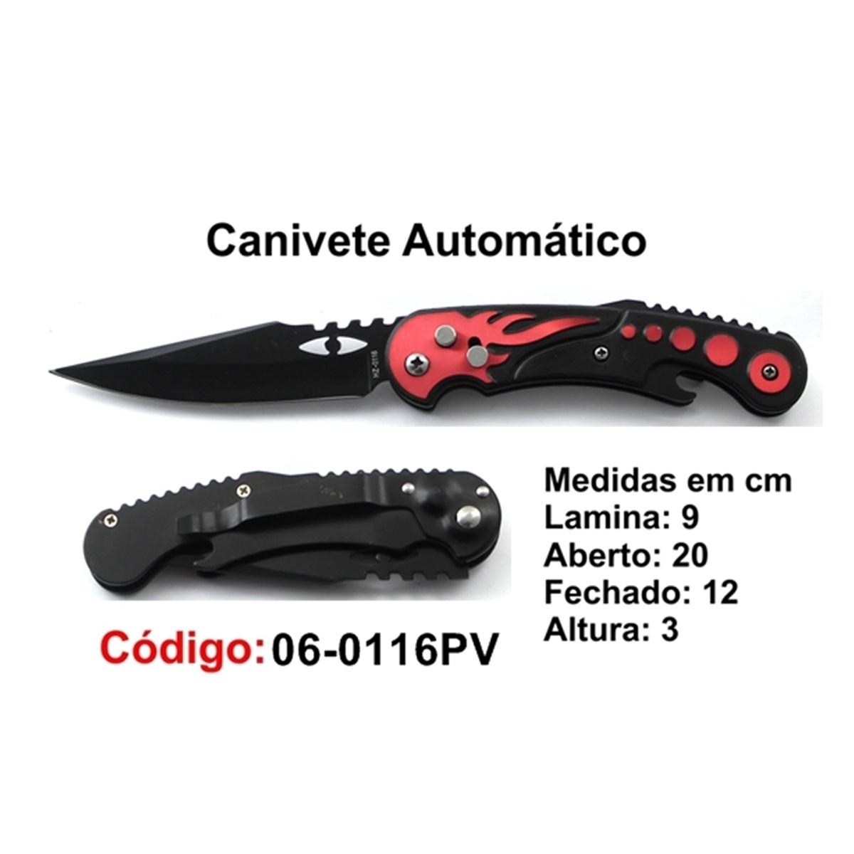 Canivete Esportivo Automático Caça Pesca Etc. 06-0116PV