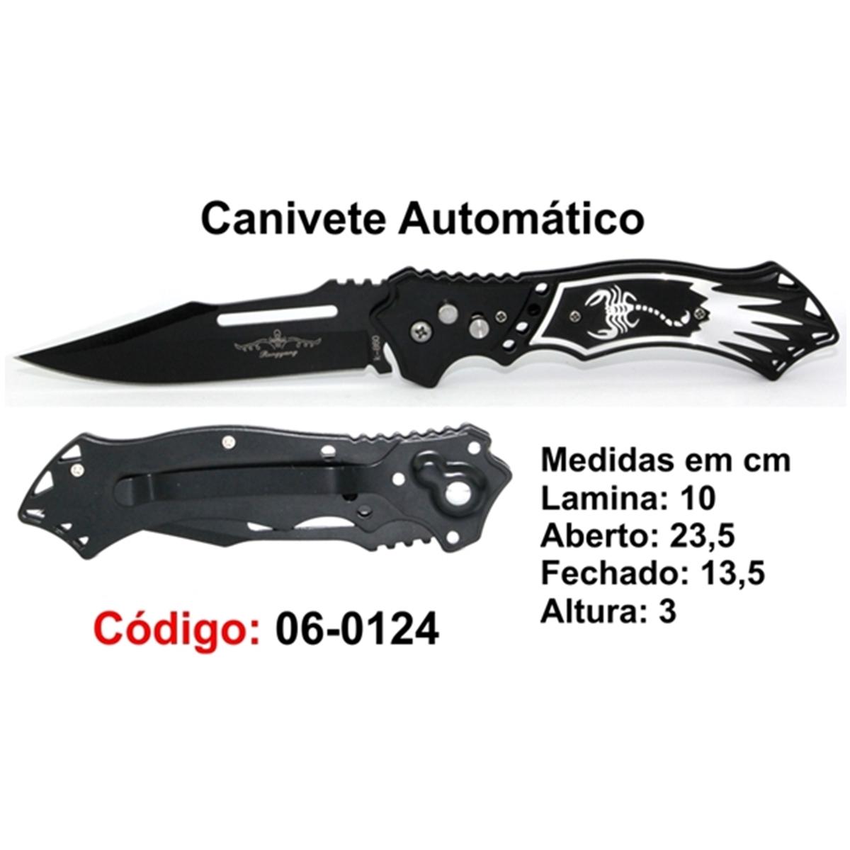 Canivete Esportivo Automático Caça Pesca Etc. 06-0124