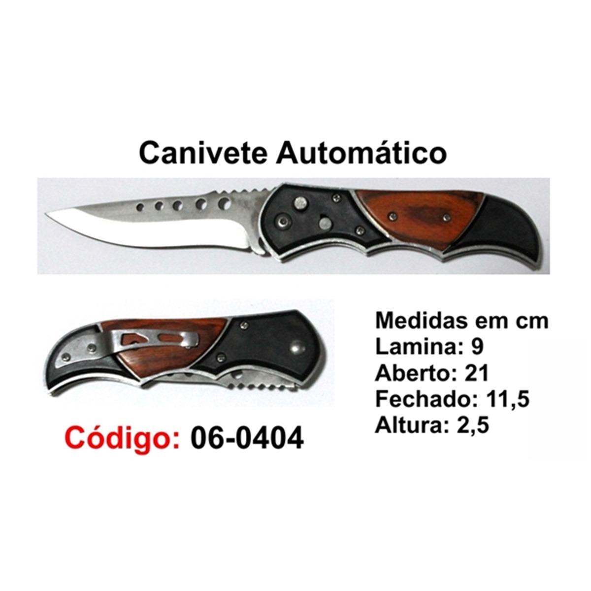 Canivete Esportivo Automático Caça Pesca Etc. 06-0404