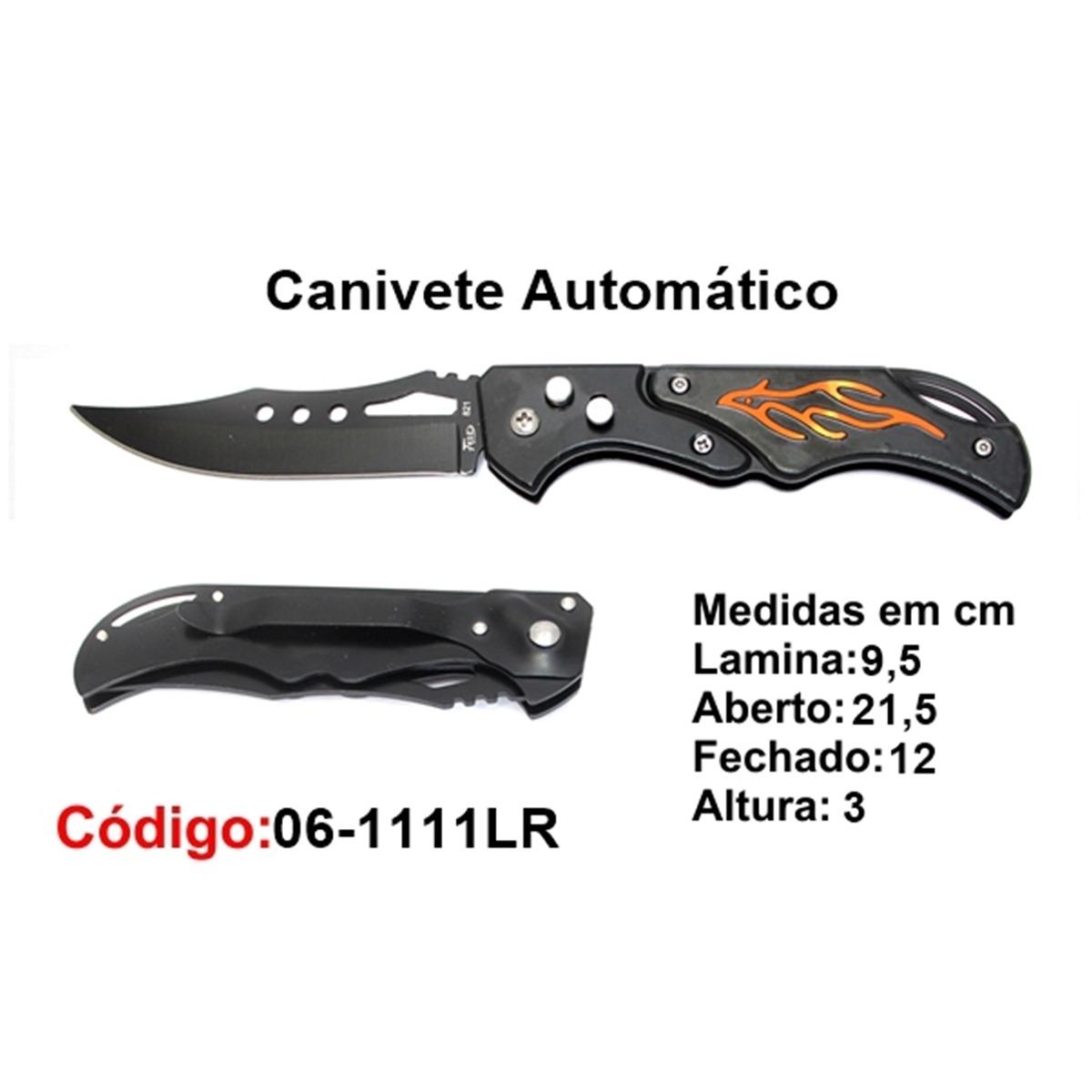 Canivete Esportivo Automático Caça Pesca Etc. 06-1111LR
