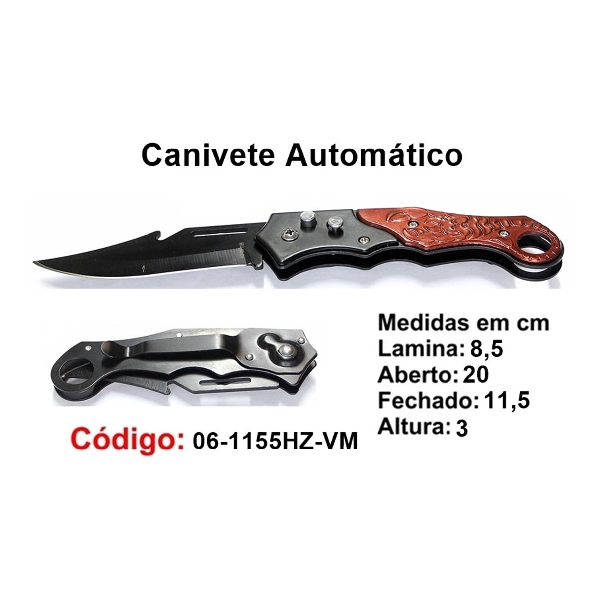Canivete Esportivo Automático Caça Pesca Etc. 06-1155HZ-VM