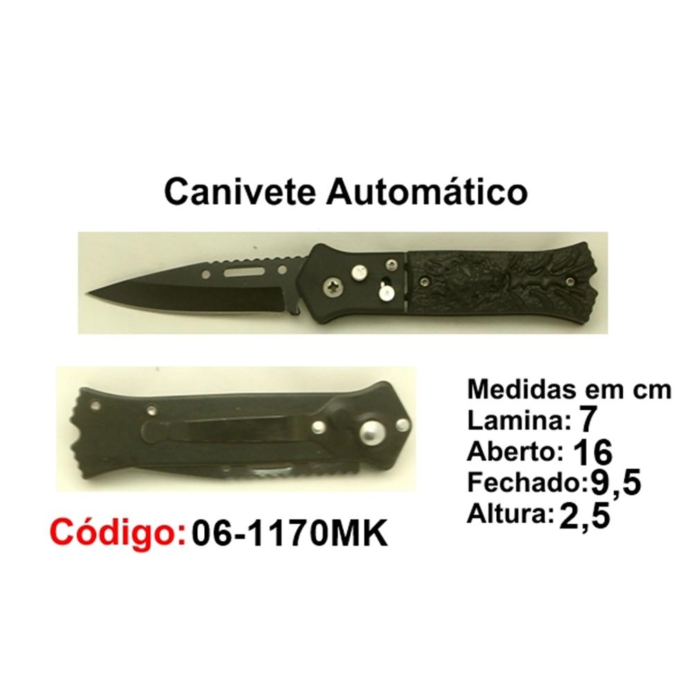 Canivete Esportivo Automático Caça Pesca Etc. 06-1170MK
