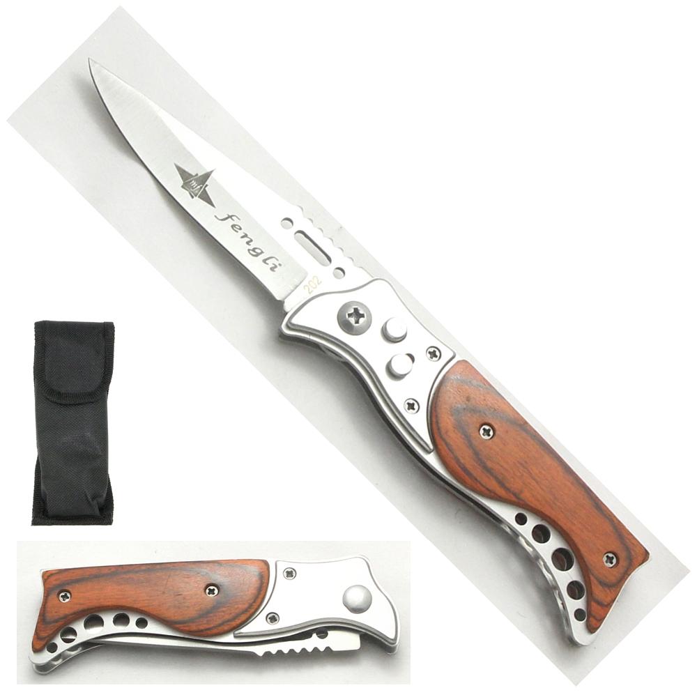 Canivete Esportivo Automático Caça Pesca Etc. Modelo 06-1164MK