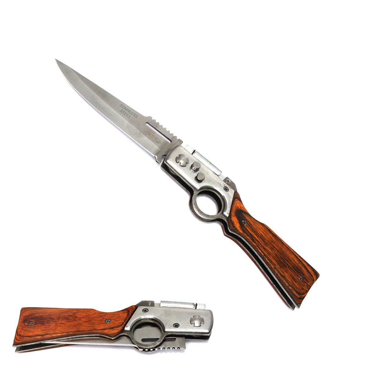 Canivete Esportivo Automático Caça Pesca Etc. T1-A178A