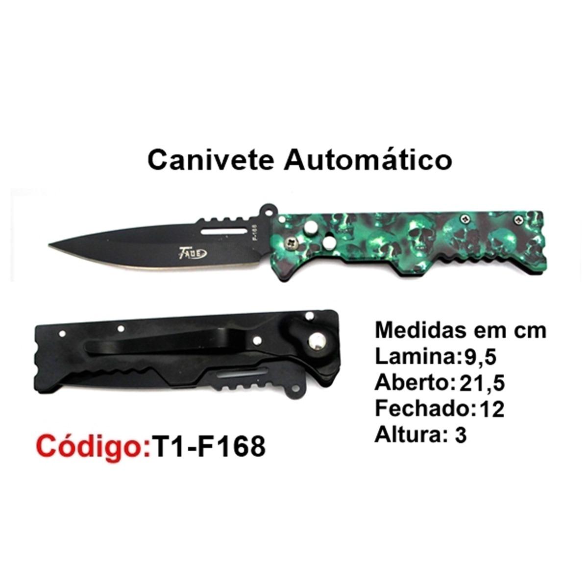 Canivete Esportivo Automático Caça Pesca Etc. T1-F168