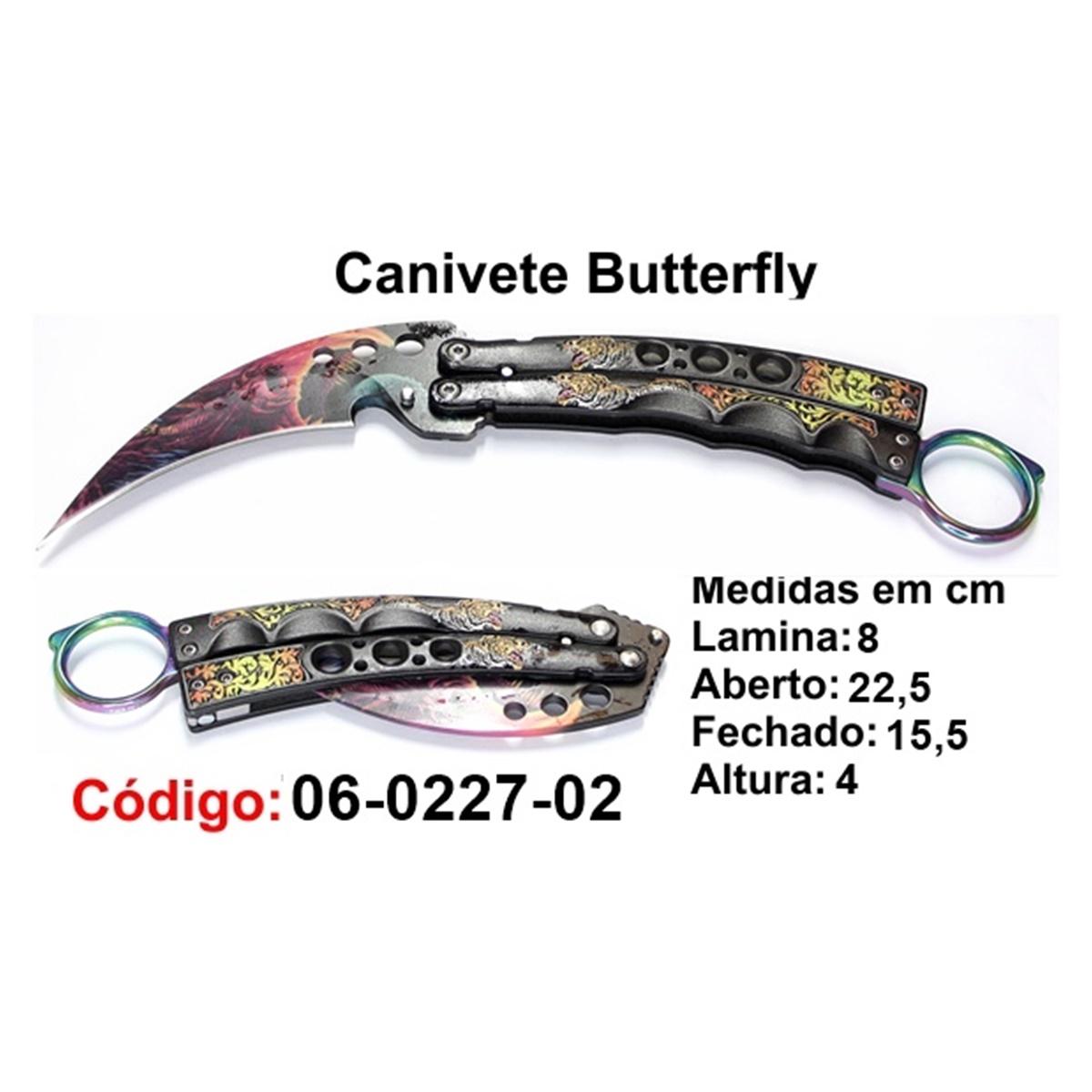 Canivete Esportivo Butterfly Borboleta 06-0227-02