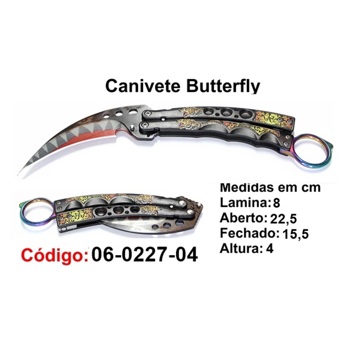 Canivete Esportivo Butterfly Borboleta 06-0227-04