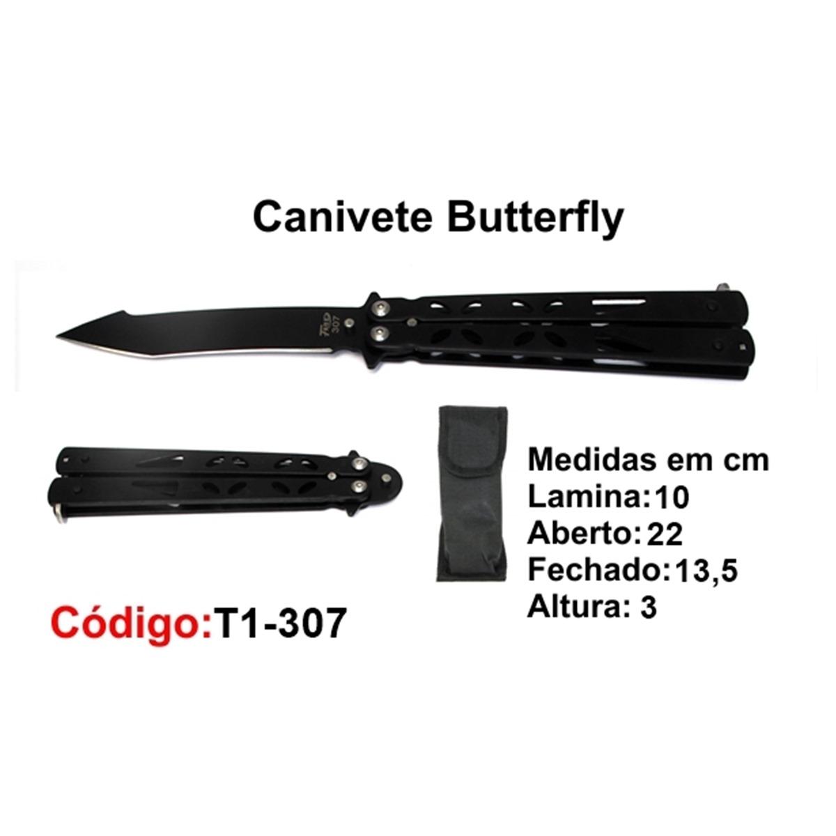 Canivete Esportivo Butterfly Borboleta T1-307
