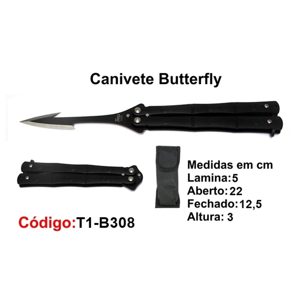 Canivete Esportivo Butterfly Borboleta T1-B308