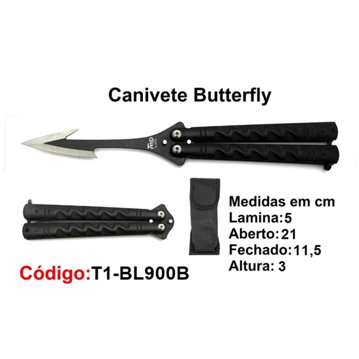 Canivete Esportivo Butterfly Borboleta T1-BL900B