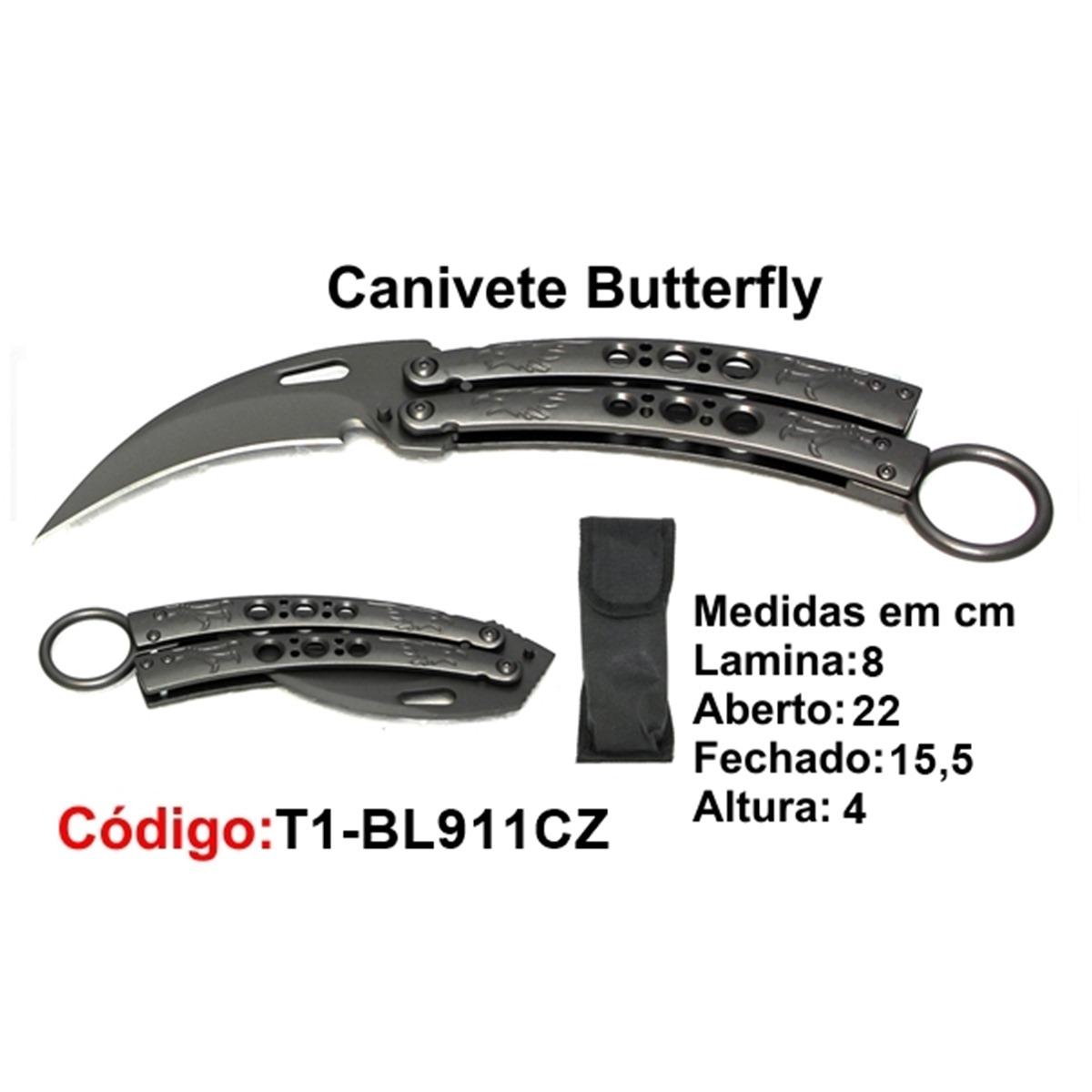 Canivete Esportivo Butterfly Borboleta T1-BL911CZ
