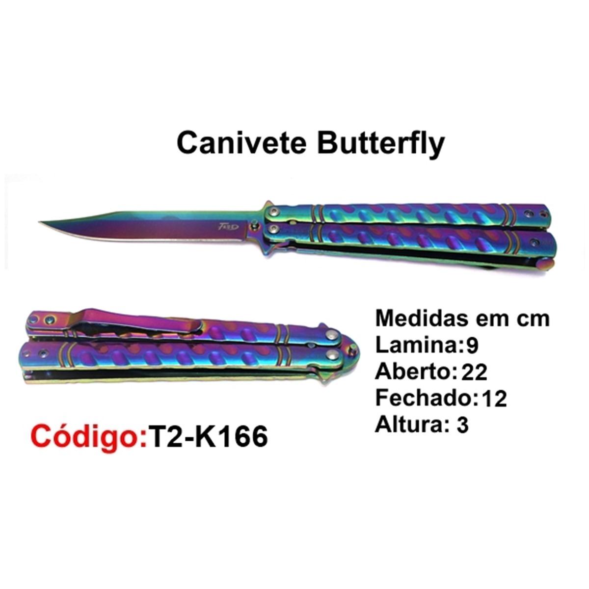 Canivete Esportivo Butterfly Borboleta T2-K166