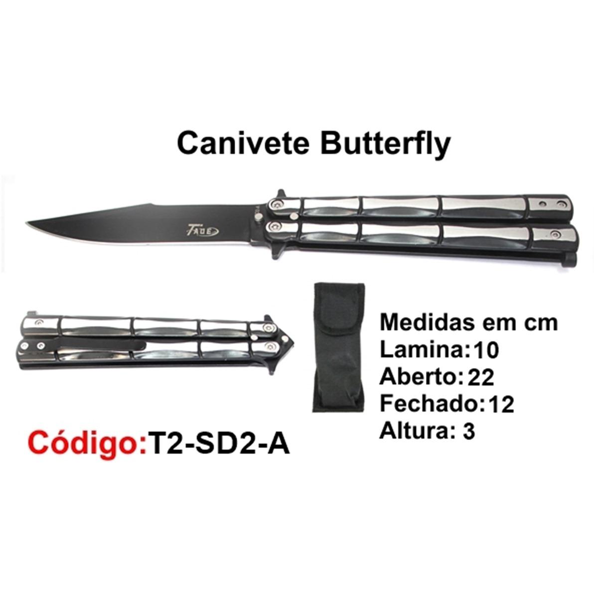 Canivete Esportivo Butterfly Borboleta T2-SD2-A