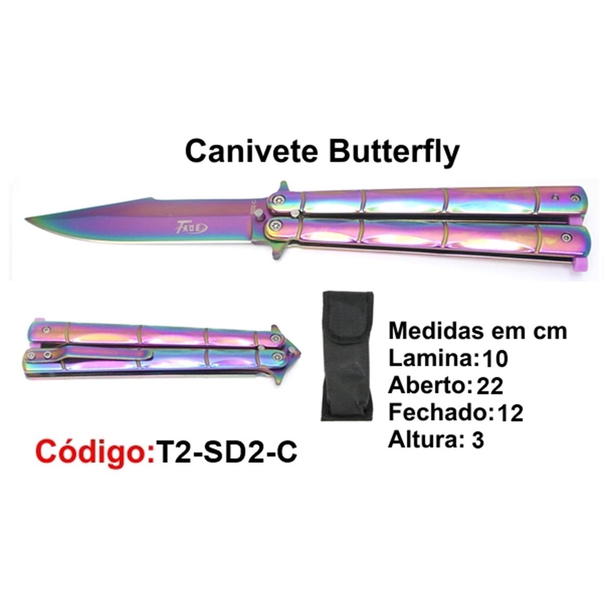 Canivete Esportivo Butterfly Borboleta T2-SD2-C