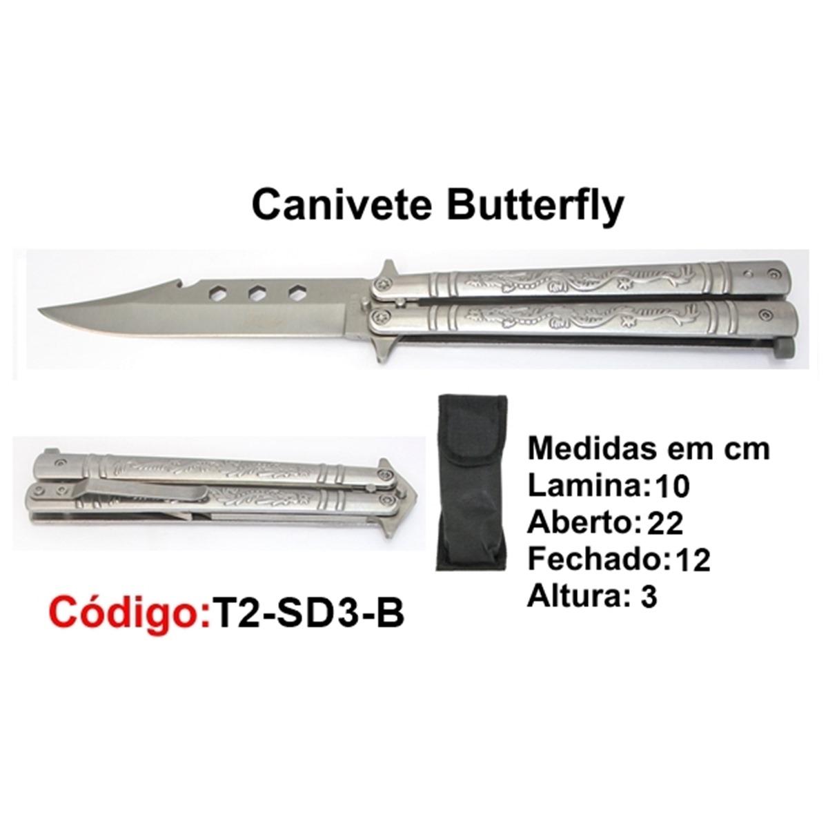 Canivete Esportivo Butterfly Borboleta T2-SD3-B