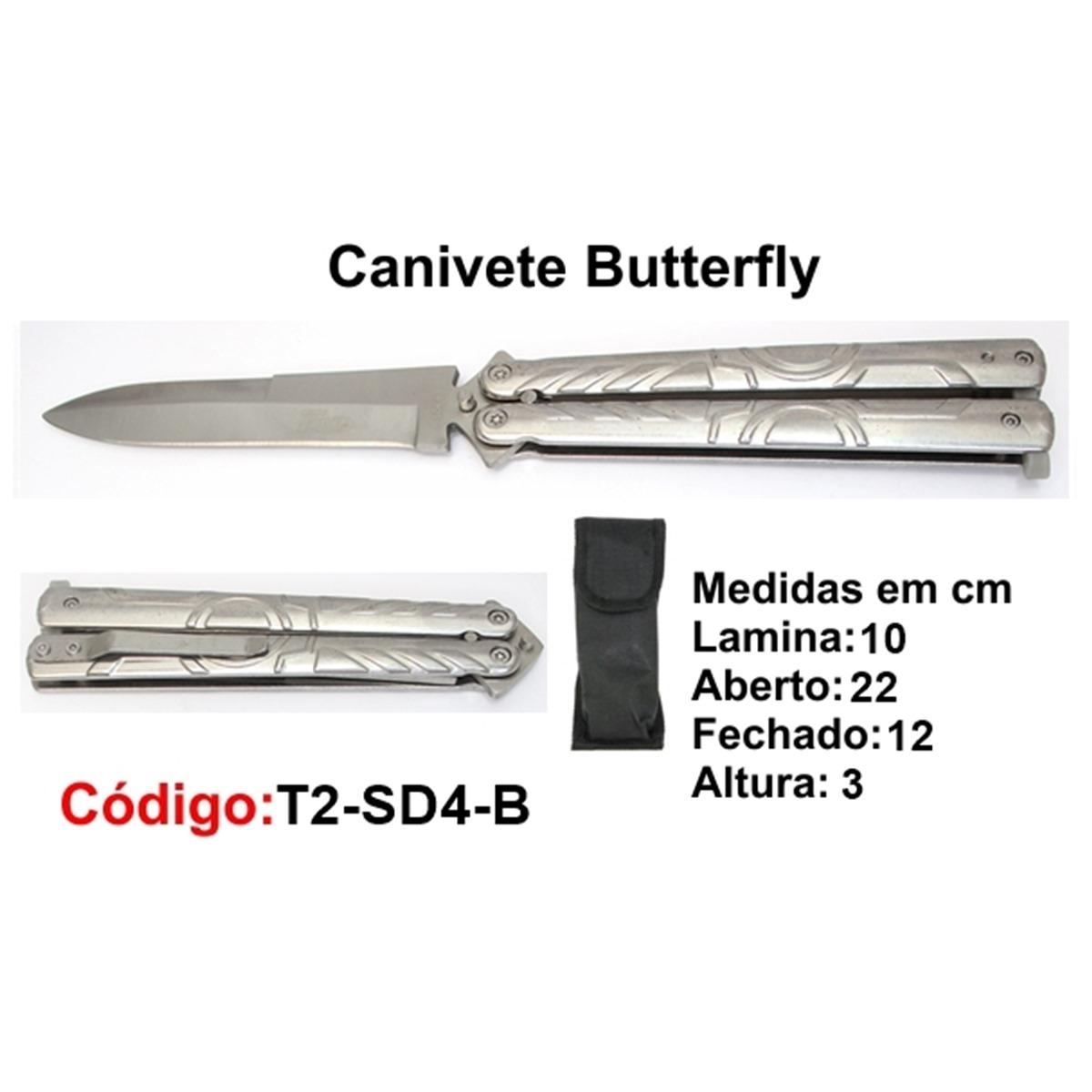 Canivete Esportivo Butterfly Borboleta T2-SD4-B