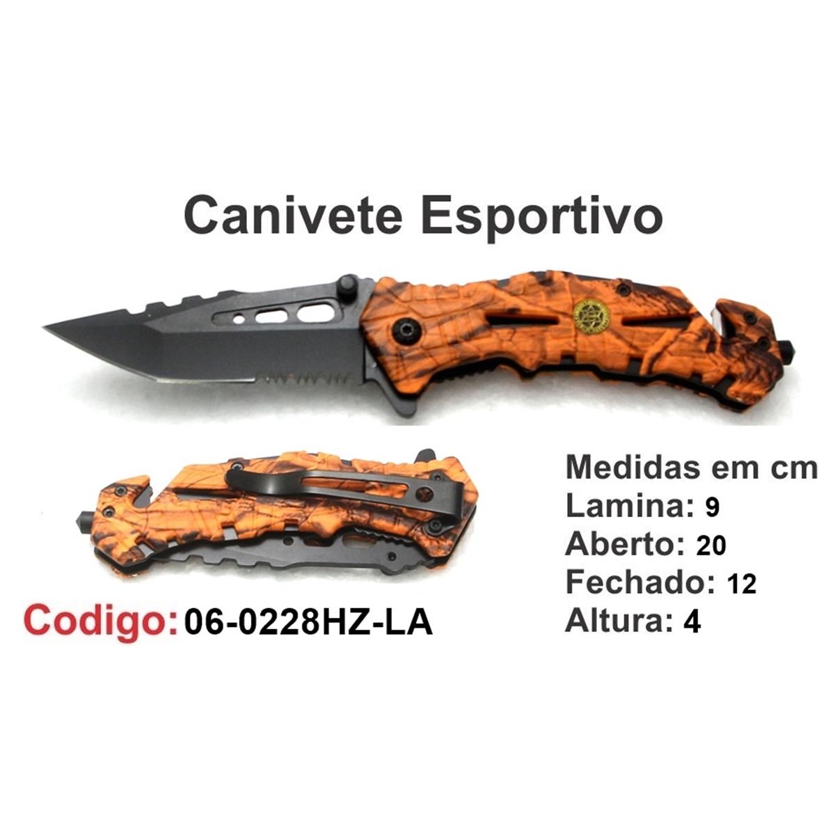 Canivete Esportivo Caça Pesca Etc. 06-0228HZ-LR