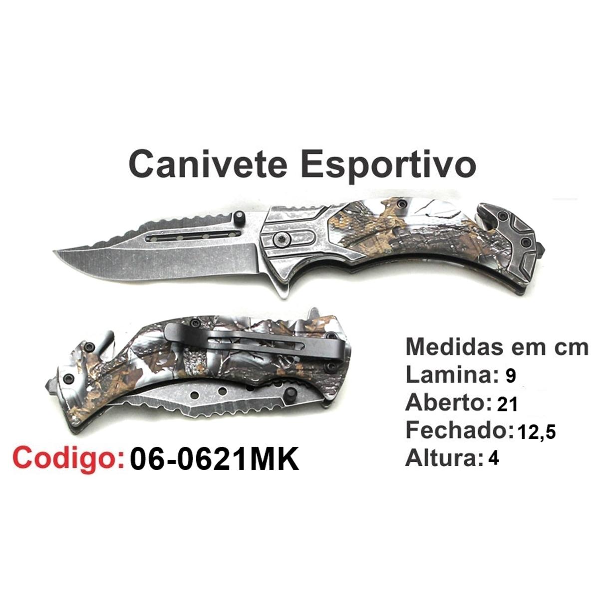 Canivete Esportivo Caça Pesca Etc. 06-0621MK