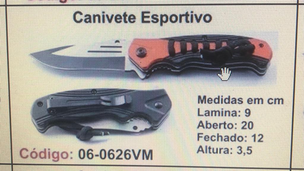 Canivete Esportivo Caça Pesca Etc. 06-0626VM