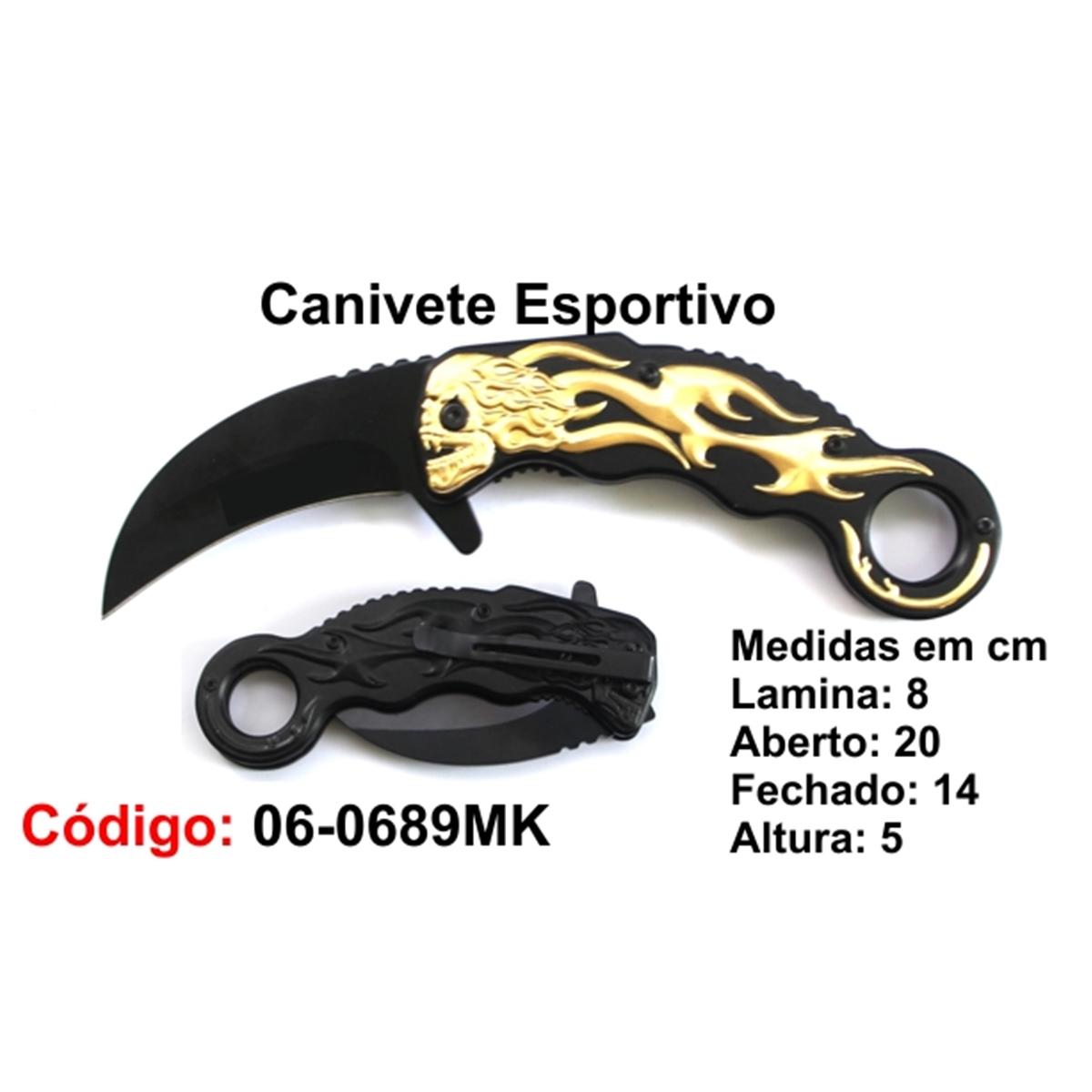 Canivete Esportivo Caça Pesca Etc. 06-0689MK