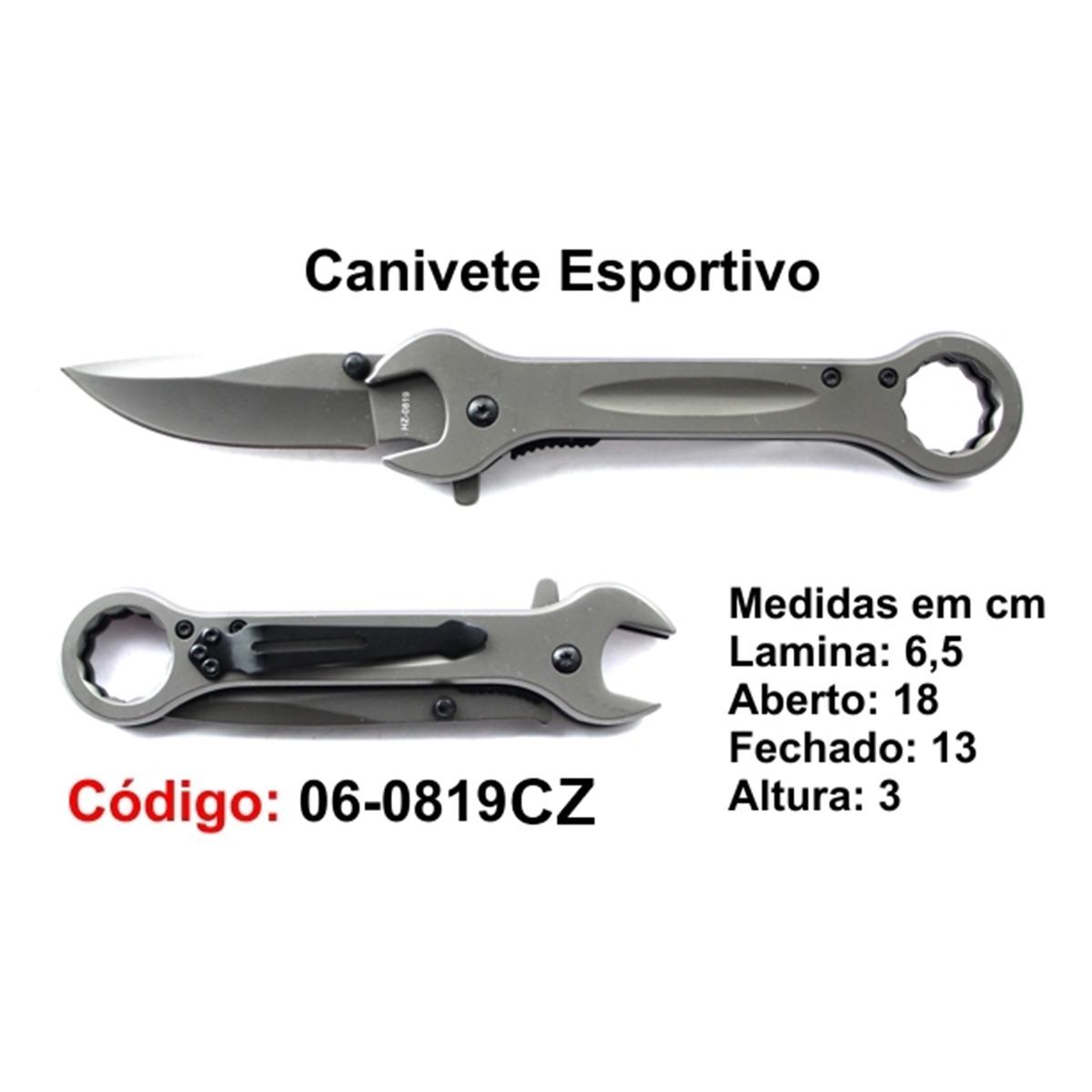 Canivete Esportivo Caça Pesca Etc. 06-0819CZ