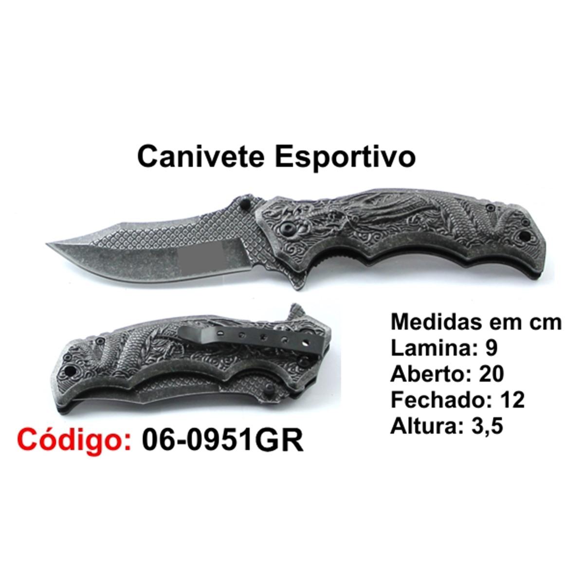 Canivete Esportivo Caça Pesca Etc. 06-0951GR