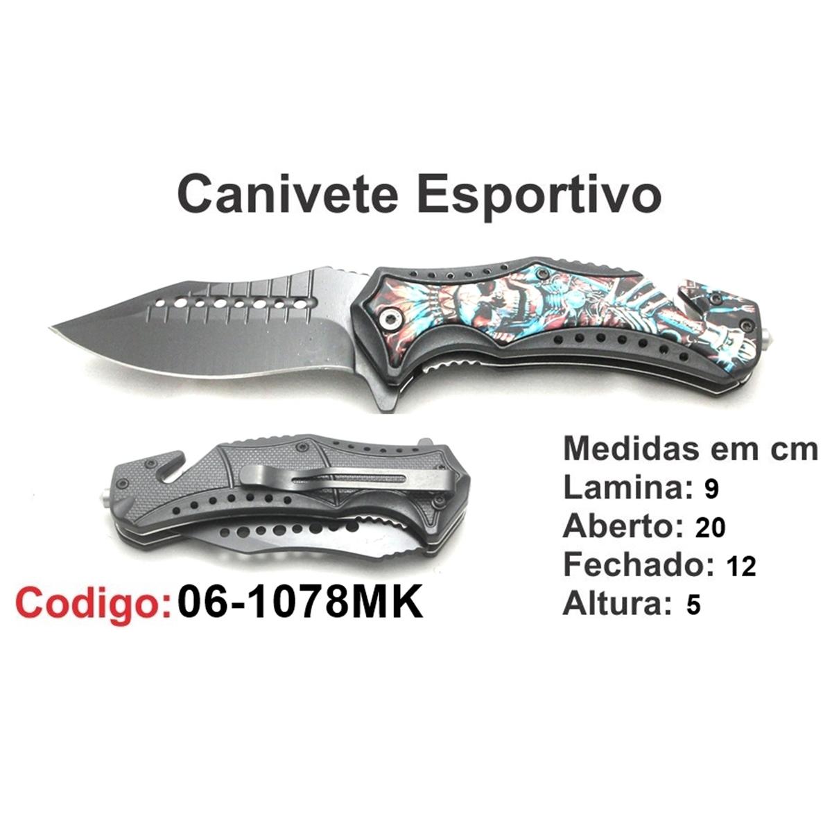 Canivete Esportivo Caça Pesca Etc. 06-1078MK
