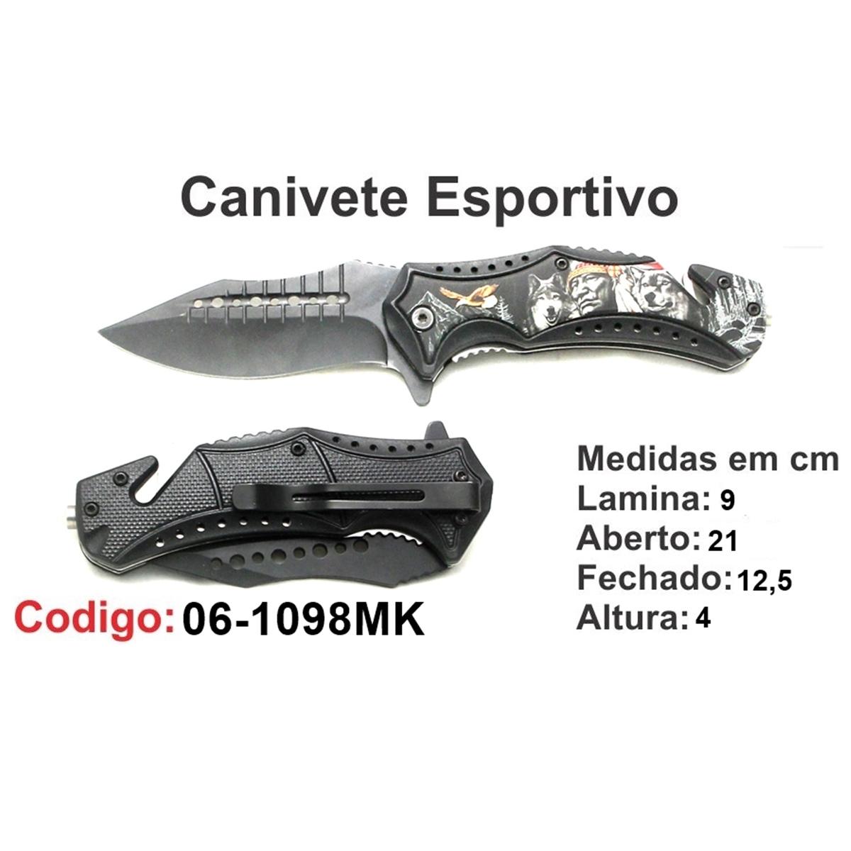 Canivete Esportivo Caça Pesca Etc. 06-1098MK