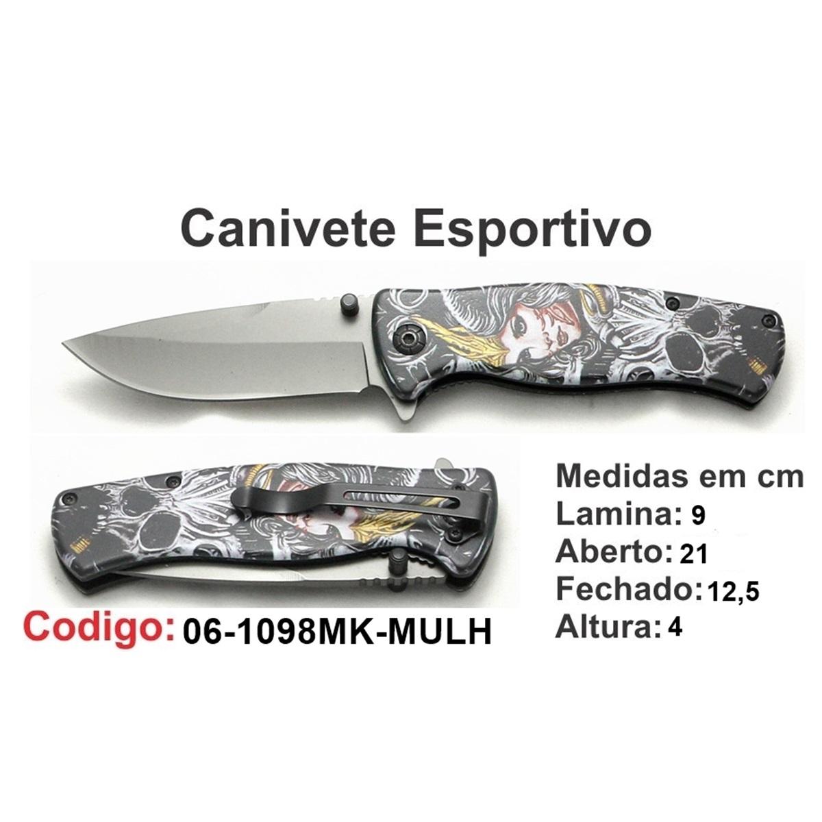 Canivete Esportivo Caça Pesca Etc. 06-1098MK-MULH