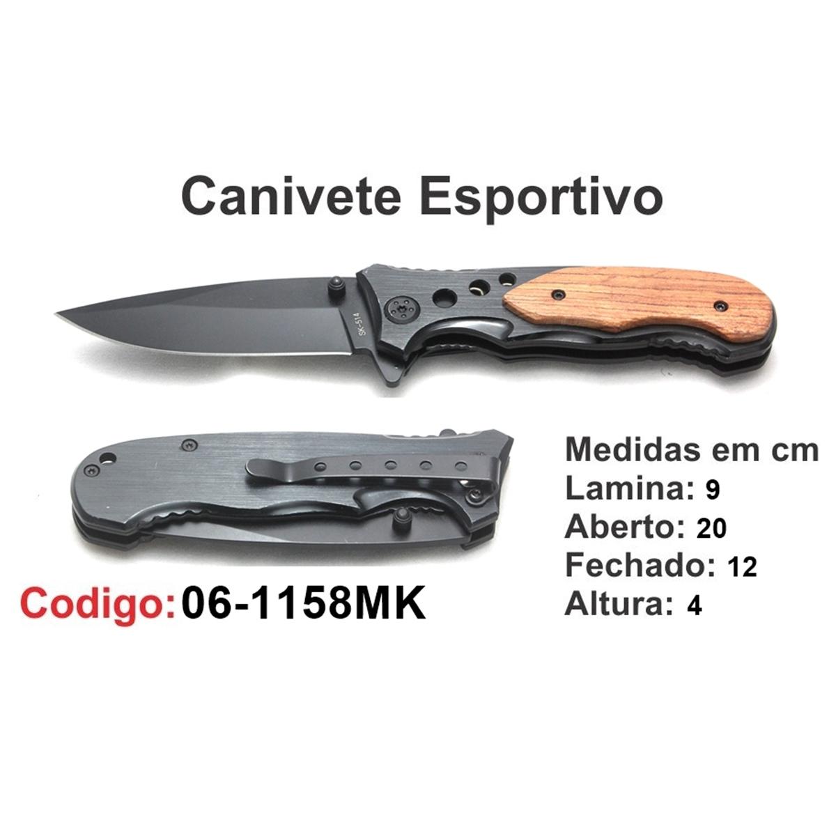 Canivete Esportivo Caça Pesca Etc. 06-1158MK