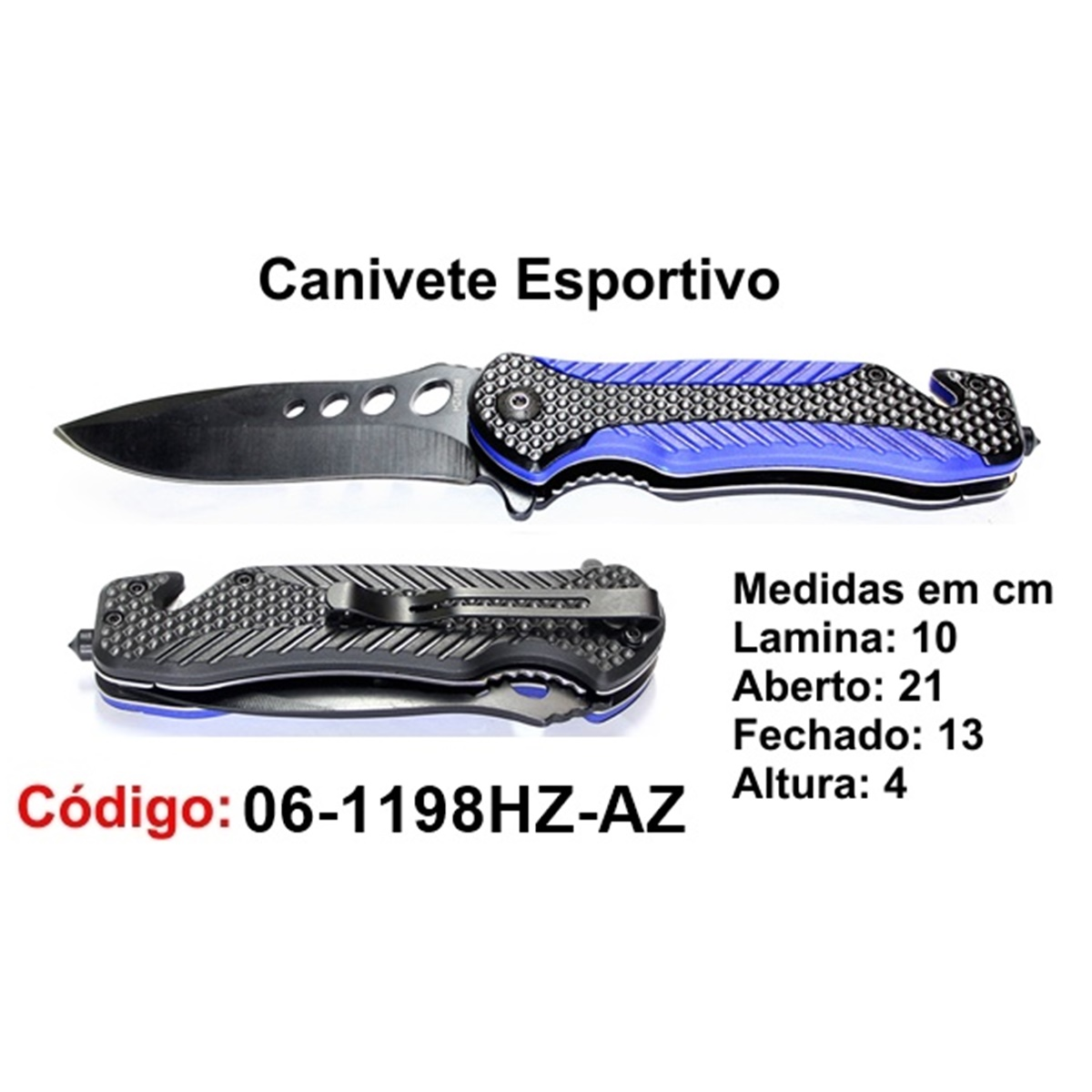 Canivete Esportivo Caça Pesca Etc. 06-1198HZ-AZ