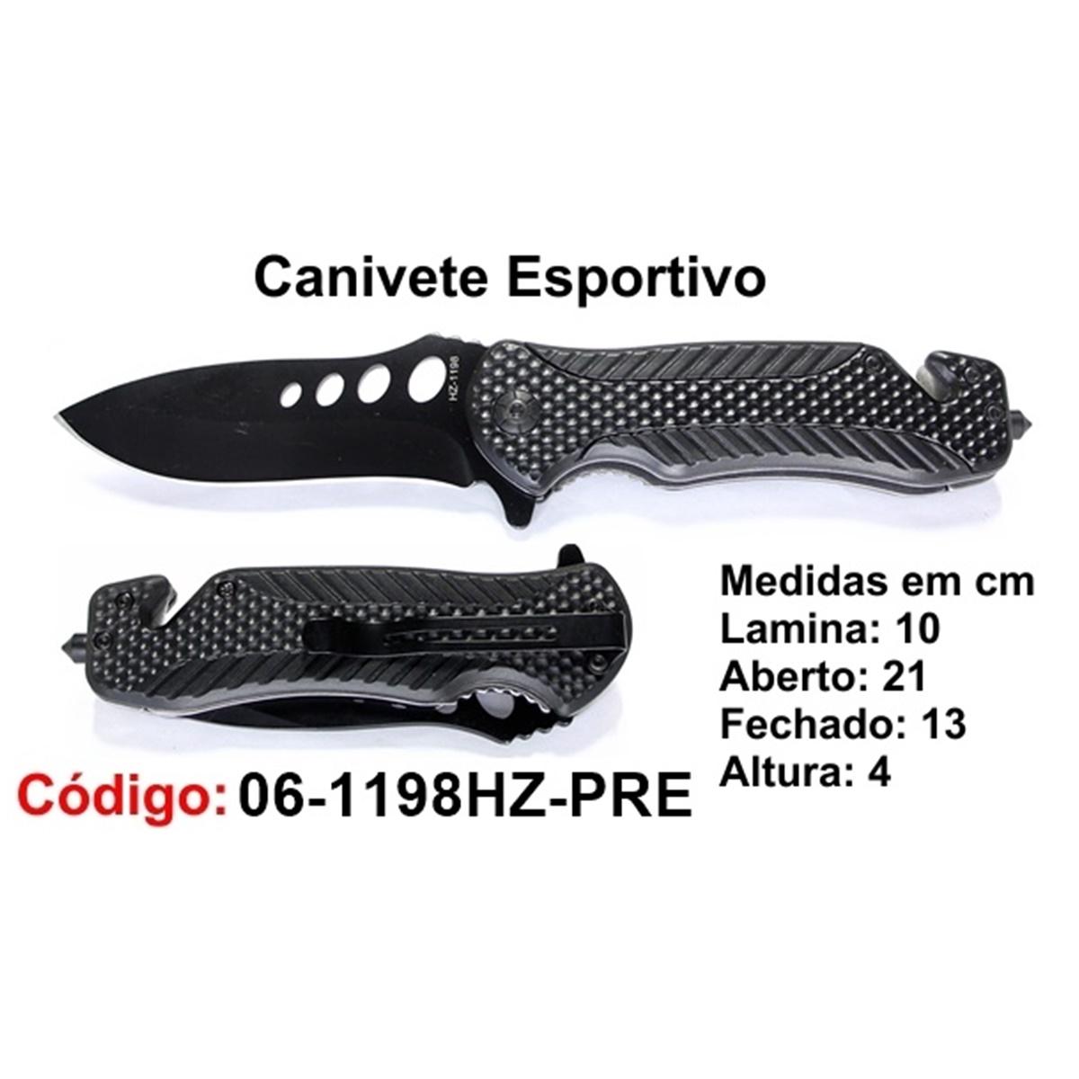 Canivete Esportivo Caça Pesca Etc. 06-1198HZ-PRE