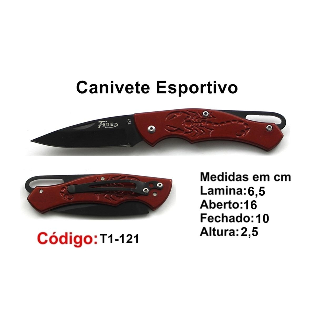 Canivete Esportivo Caça Pesca Etc. T1-121