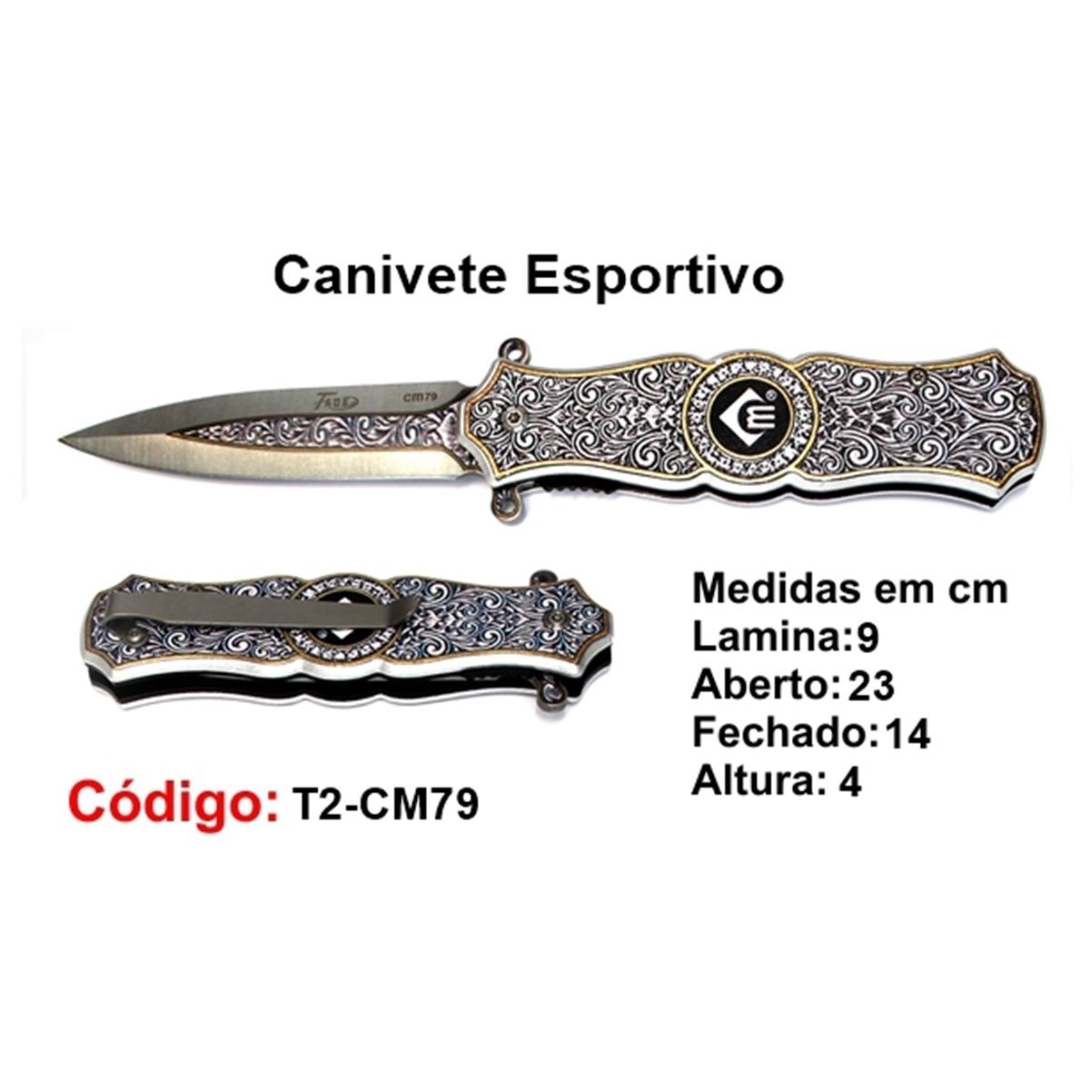 Canivete Esportivo Caça Pesca Etc. T2-CM79