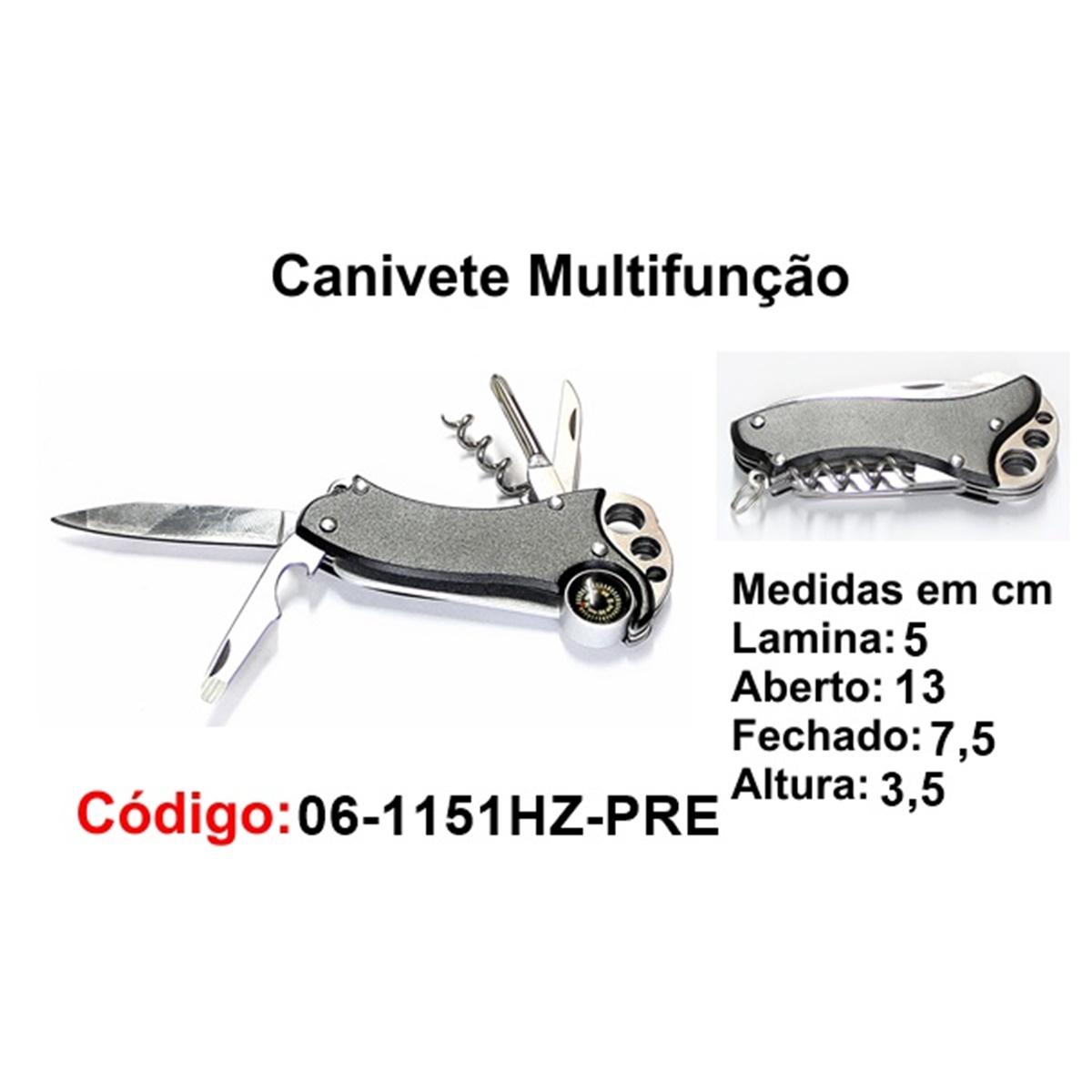 Canivete Multifunção Esportivo Caça Pesca Etc. 06-1151HZ-PRE