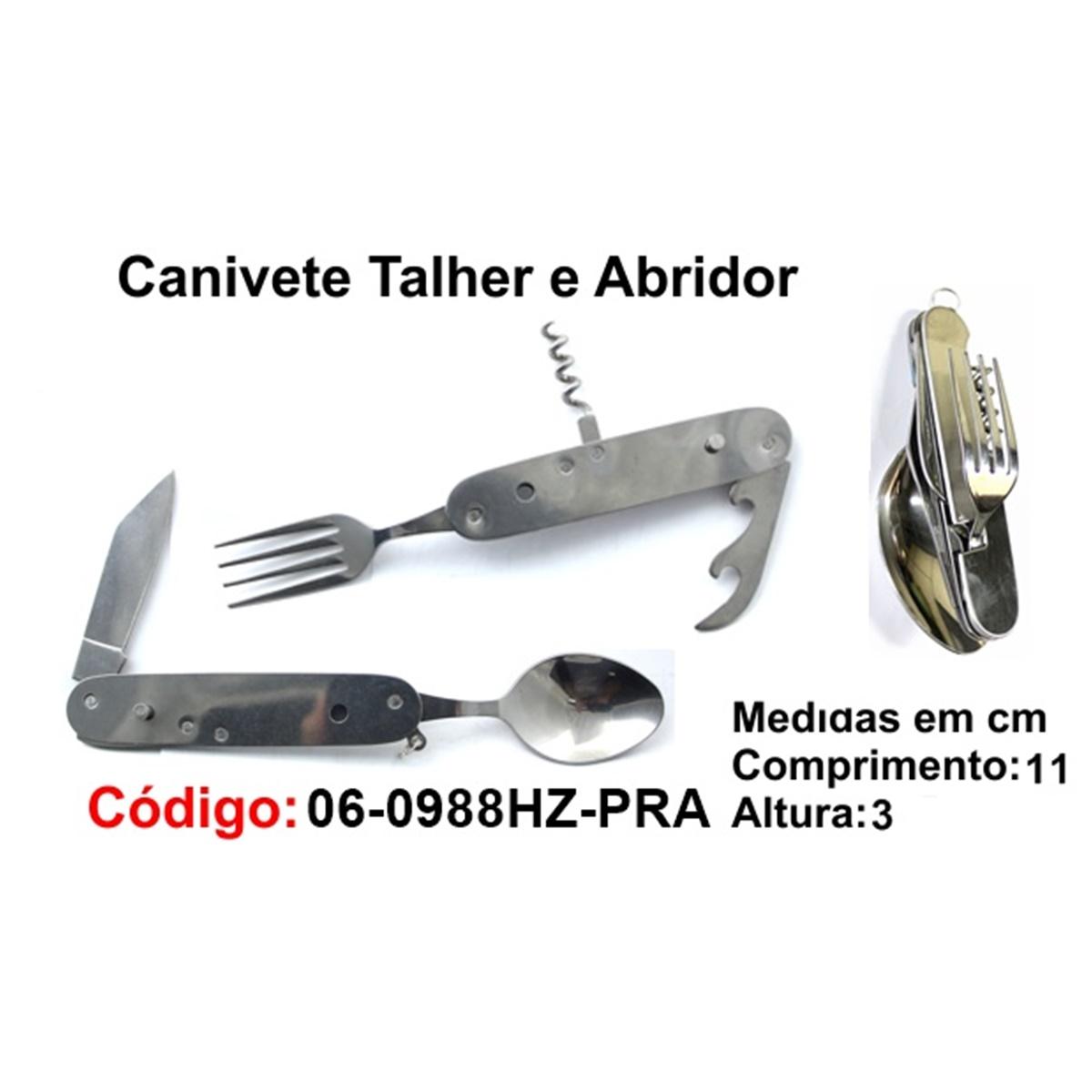 Canivete Talher Abridor Multiuso Caça Pesca Etc. 06-0988HZ-PRA