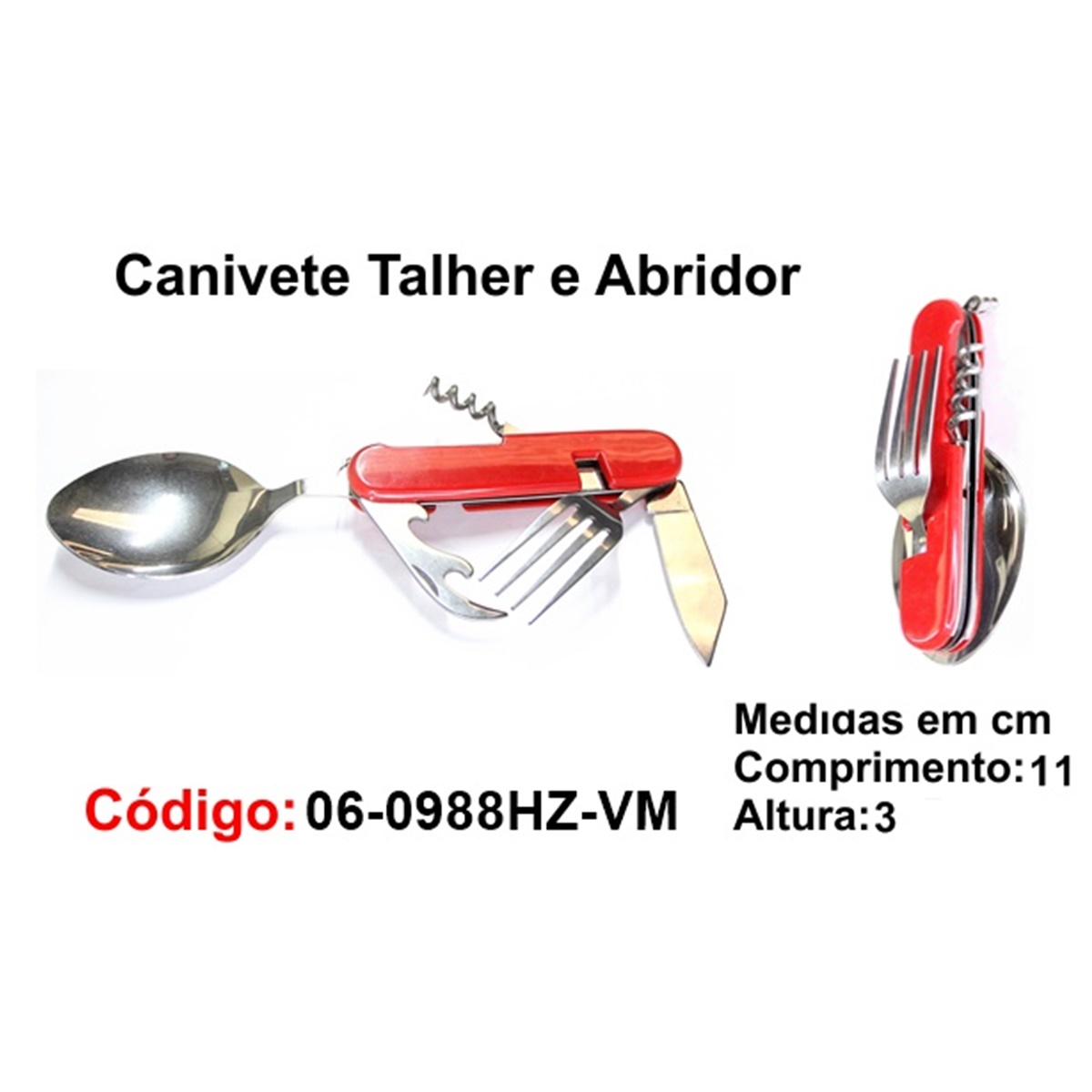 Canivete Talher Abridor Multiuso Caça Pesca Etc. 06-0988HZ-VM