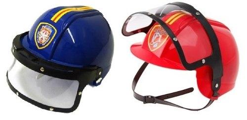 Capacete De Bombeiro + Policial Brinquedo Infantil 9075 / 9076