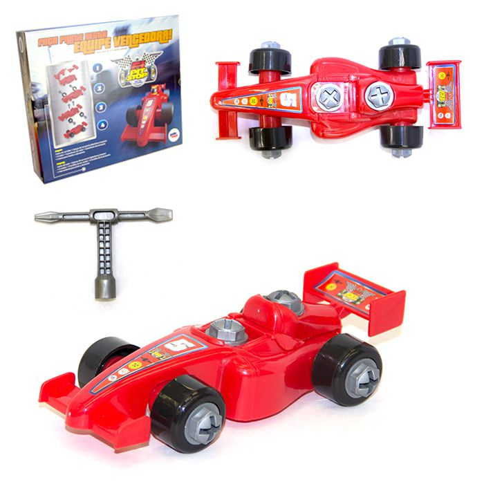 Carro Formula 1 Pit Stop Carro De Montagem 14 Pçs Paki Toys
