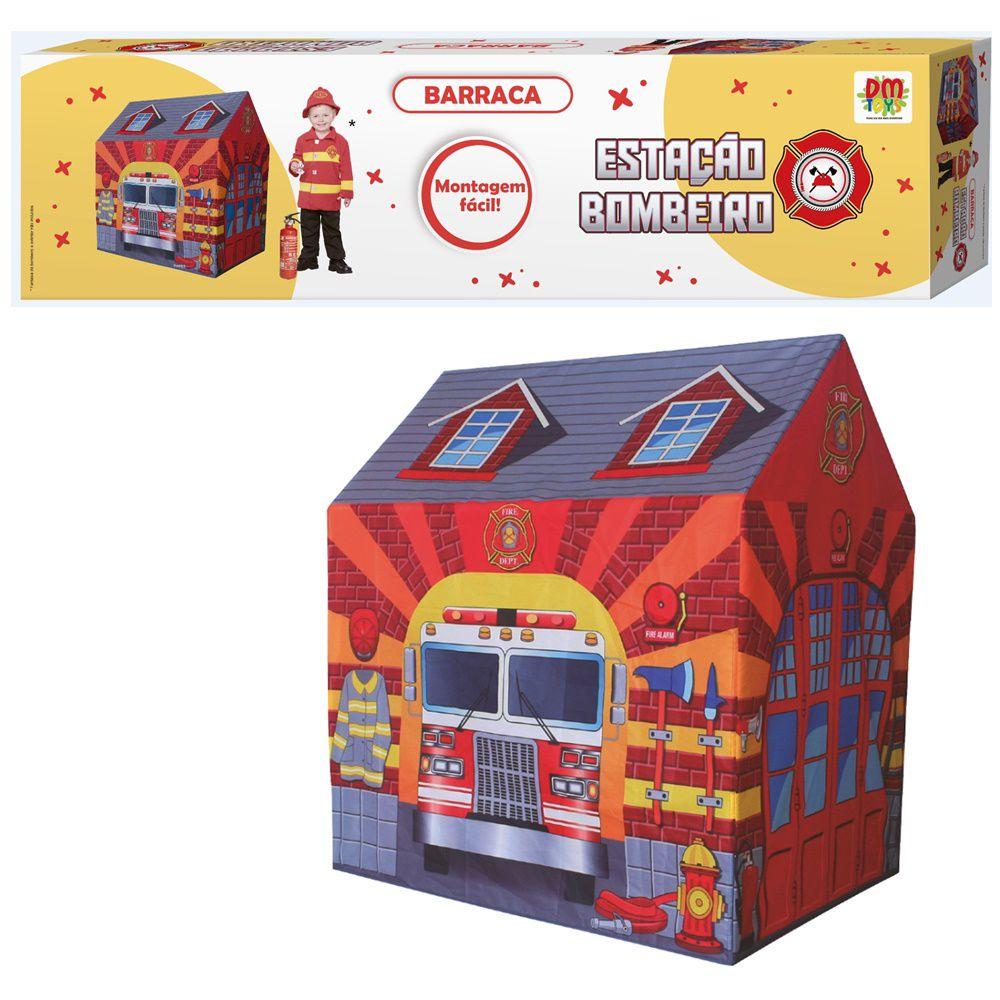 Casinha Barraca do Bombeiro infantil tenda toca DM Toys DMT5653